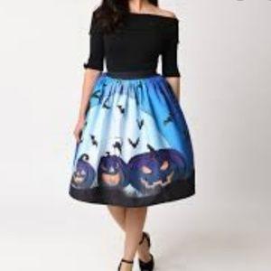 Unique Vintage Spooktacular skirt